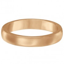 Dome Comfort Fit Wedding Ring Band 18k Rose Gold (2mm)|escape