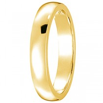 Dome Comfort Fit Wedding Ring Band 18k Yellow Gold (2mm)