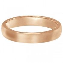 Dome Comfort Fit Wedding Ring Band 18k Rose Gold (3mm)|escape