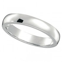 Dome Comfort Fit Wedding Ring Band Palladium (3mm)