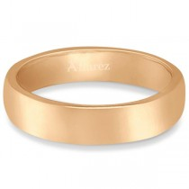 Dome Comfort Fit Wedding Ring Band 14k Rose Gold (4mm)