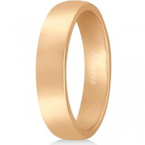 Dome Comfort Fit Wedding Ring Band 18k Rose Gold (4mm)