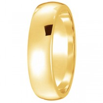 Dome Comfort Fit Wedding Ring Band 14k Yellow Gold (5mm)