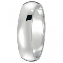 Dome Comfort Fit Wedding Ring Band Platinum (5mm)