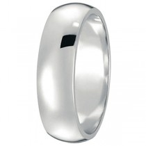 Dome Comfort Fit Wedding Ring Band Platinum (6mm)