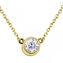 Bezel-Set Solitaire Pendant Setting in 14k Yellow Gold
