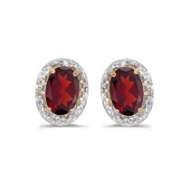 Diamond and Ruby Earrings in 14k Yellow Gold (1.20ct)