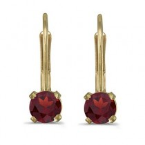 Garnet Lever-Back Drop Earrings 14k Yellow Gold (0.60ctw)