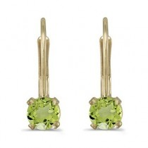 Peridot Lever-Back Drop Earrings 14k Yellow Gold (0.60ctw)|escape