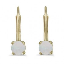 Opal Lever-Back Drop Earrings 14k Yellow Gold (0.60ctw)