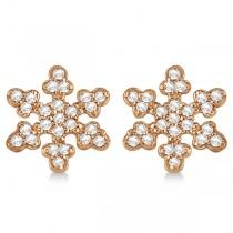 Diamond Snowflake Earrings 14k Rose Gold (0.24ct)