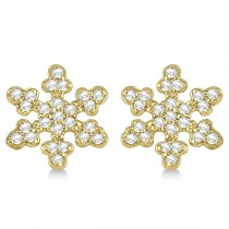 Diamond Snowflake Earrings 14k Yellow Gold (0.24ct)