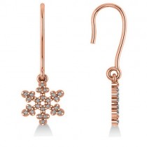 Diamond  Snowflake Loop Earrings 14k Rose Gold (0.24ct)