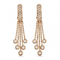 Pave Bridal Diamond Chandelier Earrings 14K Rose Gold (1.00ct)