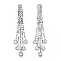 Pave Bridal Diamond Chandelier Earrings 14K White Gold (1.00ct)
