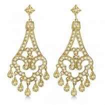Dangling Chandelier Diamond Earrings 14K Yellow Gold (1.08ct)