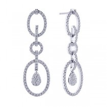 Bridal Diamond Drop Earrings in 14k White Gold (1.75 ctw)|escape