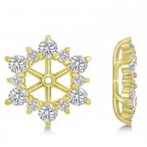 Diamond Flower Halo Earring Jackets