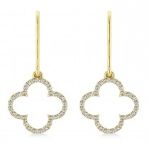 Diamond Clover Drop Earrings 14K Yellow Gold (0.56ct)