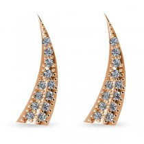 Horn Ear Cuffs with Diamond Accents 14K Rose Gold (0.24ct)