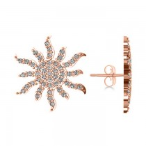 Diamond Sunburst Earring 14k Rose Gold (0.49ct)
