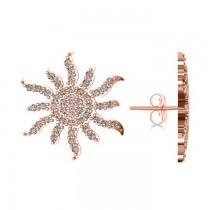 Diamond Sunburst Earring 14k Rose Gold (0.49ct)