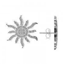 Diamond Sunburst Earring 14k White Gold (0.49ct)