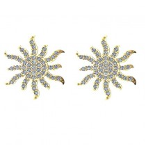 Diamond Sunburst Earring 14k Yellow Gold (0.49ct)
