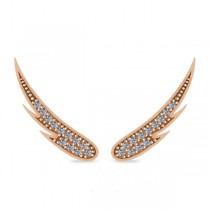 Angel Wings Ear Cuffs Diamond Accented 14K Rose Gold (0.24ct)