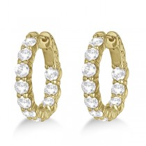 Small Round Diamond Hoop Earrings 14k Yellow Gold (4.00ct)|escape