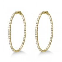 X-Large Round Diamond Hoop Earrings 14k Yellow Gold (5.15ct)