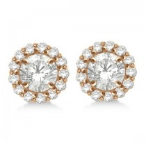 Round Diamond Earring Jackets for 5mm Studs 14K Rose Gold (0.50ct)