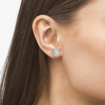 Round Diamond Earring Jackets for 7mm Studs 14K White Gold (0.58ct)