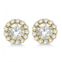 Round Diamond Earring Jackets for 5mm Studs 14K Yellow Gold (0.50ct)