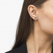 Diamond Palm Tree Summer Earrings 14k White Gold (0.20ct)