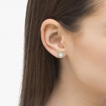 Vintage Round Cut Diamond Earring Jackets 14k Rose Gold (0.22ct)