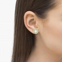 Vintage Round Cut Diamond Earring Jackets 14k Yellow Gold (0.40ct)