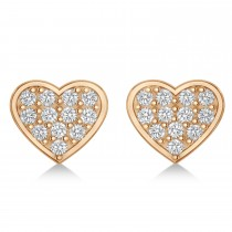 Heart & Arrow Diamond Mismatched Earrings 14k Rose Gold (0.21ct)
