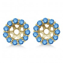 Round Blue Diamond Earring Jackets