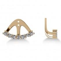 Freeform Diamond Earring Jackets in 14k Yellow Gold (0.70ct)