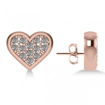 Diamond Heart Fashion Earrings 14k Rose Gold (0.26ct)