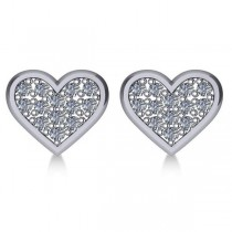 Diamond Heart Fashion Earrings 14k White Gold (0.26ct)