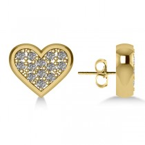 Diamond Heart Fashion Earrings 14k Yellow Gold (0.26ct)