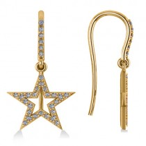 Dangle Diamond Star Earrings 14k Yellow Gold (0.62ct)