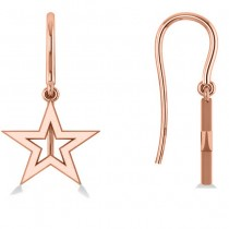 Dangle Star Earrings 14k Rose Gold