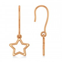 Galaxy Star Dangle Earrings 14k Rose Gold