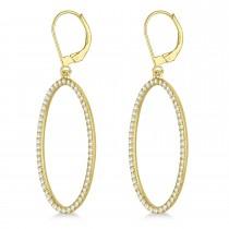 leverback Diamond Hoop Earrings 14k Yellow Gold (1.08ct)