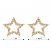 Galaxy Star Diamond Accented Stud Earrings 14k Rose Gold (0.35ct)