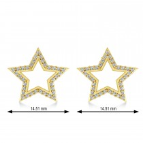 Galaxy Star Diamond Accented Stud Earrings 14k Yellow Gold (0.35ct)