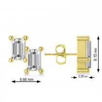 Bar Diamond Baguette Earrings 14k Yellow Gold (1.20 ctw)
